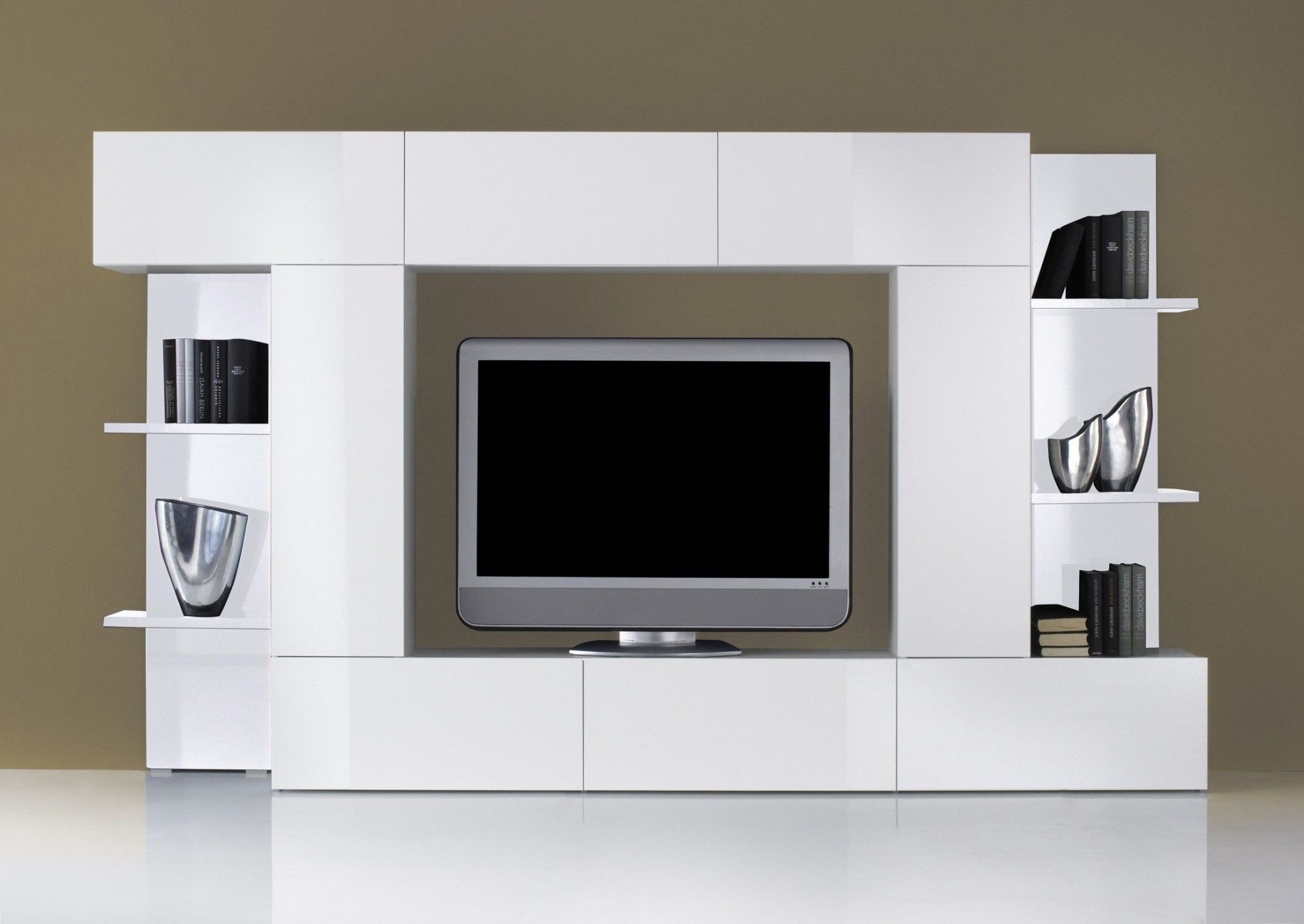 10 Design Meuble Tv Acacia Modele Modern Tv Units Built In Tv Wall Unit Tv Unit Design