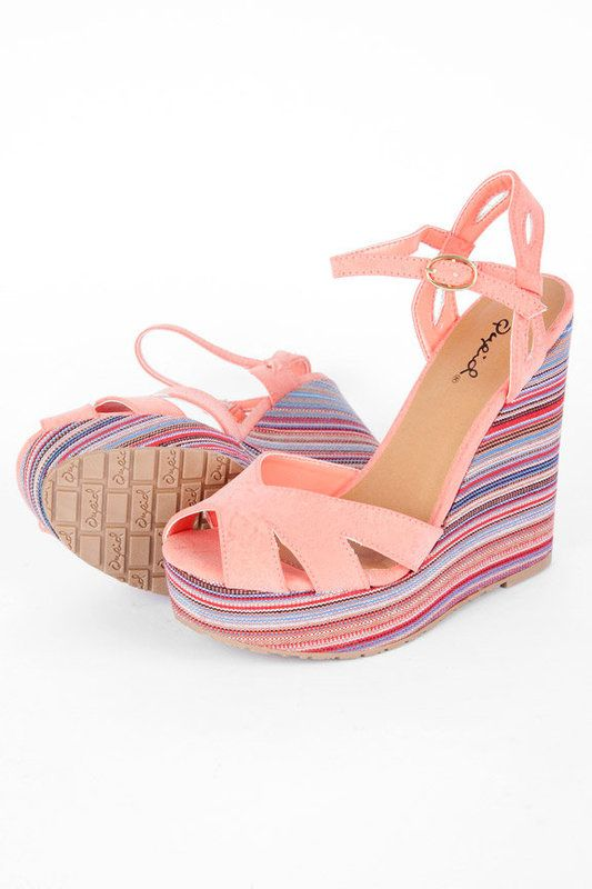 these are super cute, love the striped wedge!