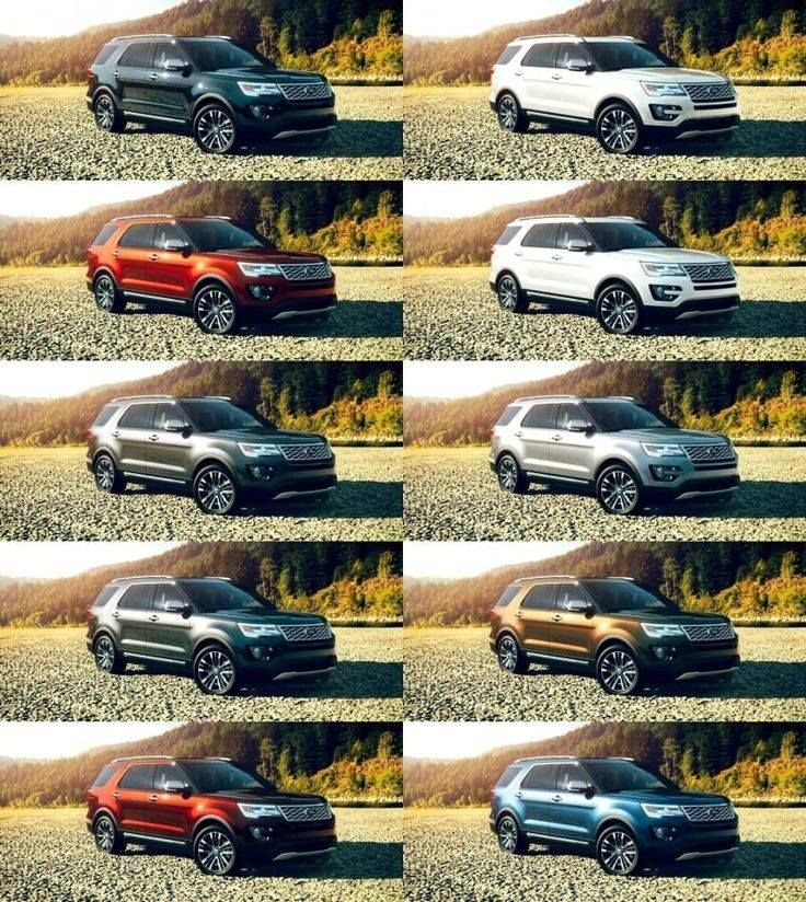 2016 Ford Explorer Sport What Color Do You Want