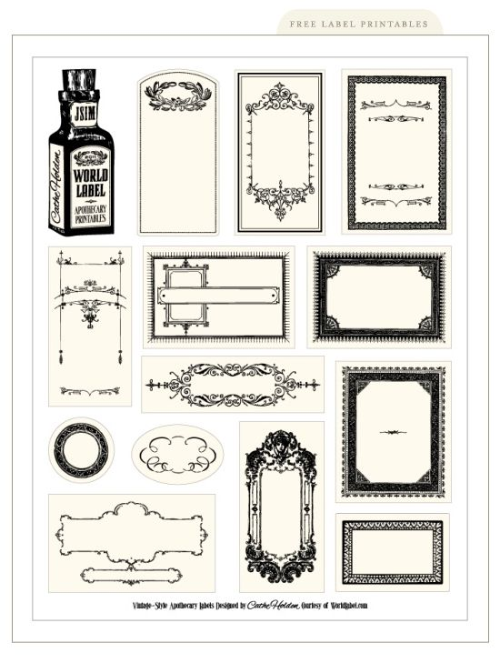 Free Printable Labels Silverbox Labels Printables Free Printable Crafts Printable Labels
