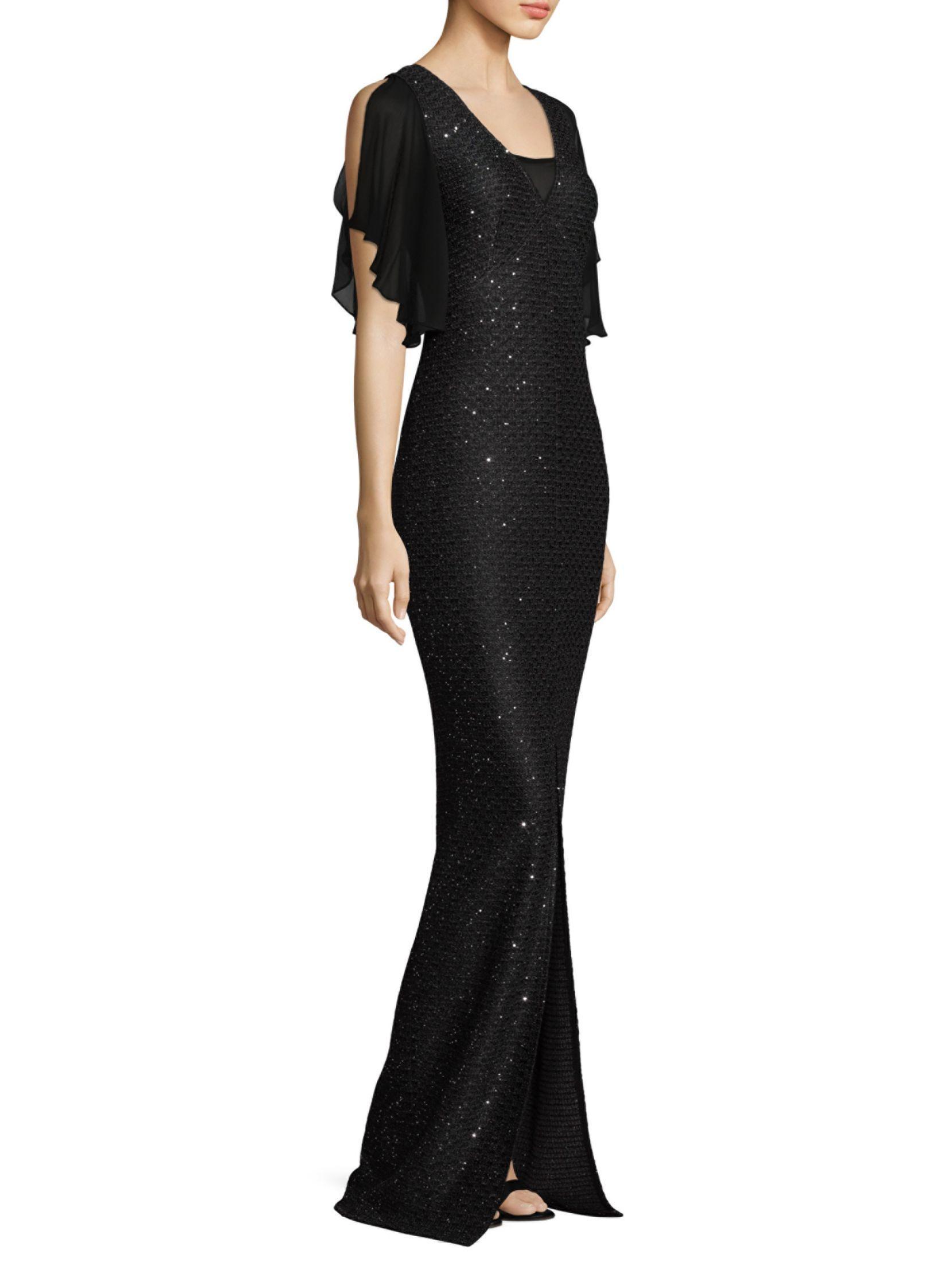 St. John Ruffle Sleeve Sequin Sheath Gown   Dresses   Pinterest