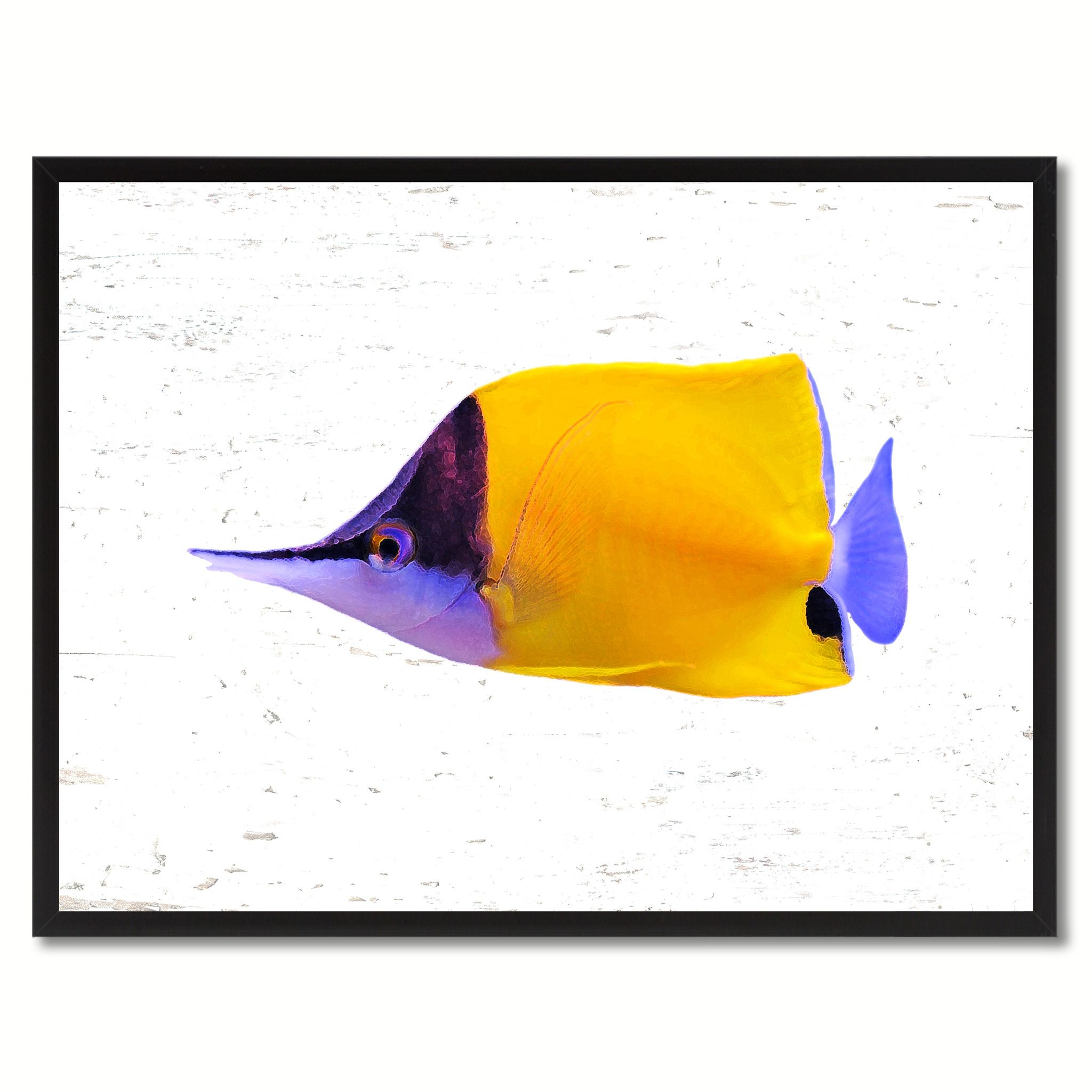 Home decor art  Yellow Tropical Fish Gift Ideas Home Decor Wall Art Canvas Prints