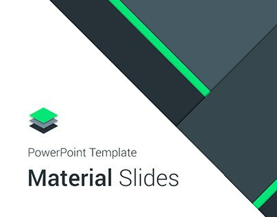 Material Presentation TemplatesWelcome to Material Design - professional power point template