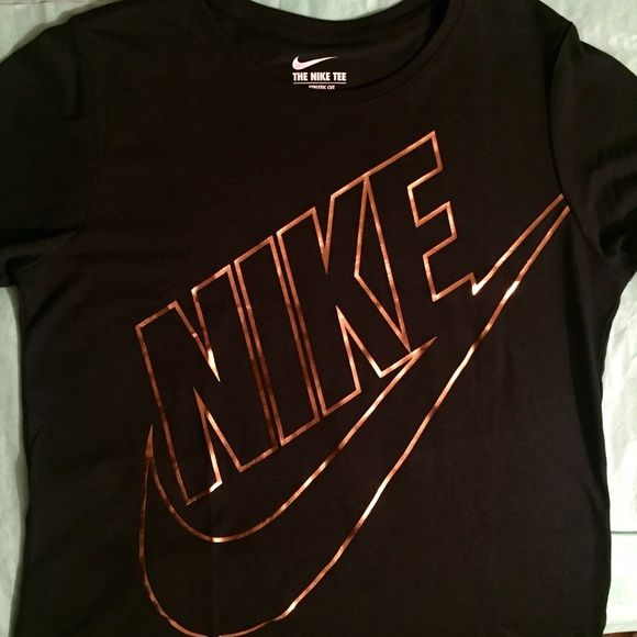acf617bdd Black and rose gold Nike t-shirt Brand new with tags Black and rose gold  Nike t-shirt size large but can fit a medium for a loose fit.