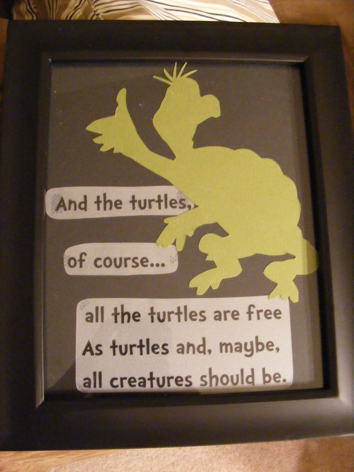 Yertle the Turtle artwork for the baby's room