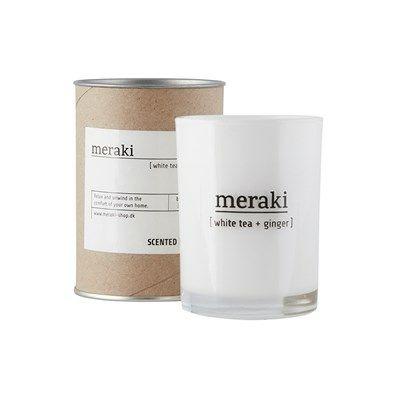 Meraki Duftlys Hvid te og Ingefær Large