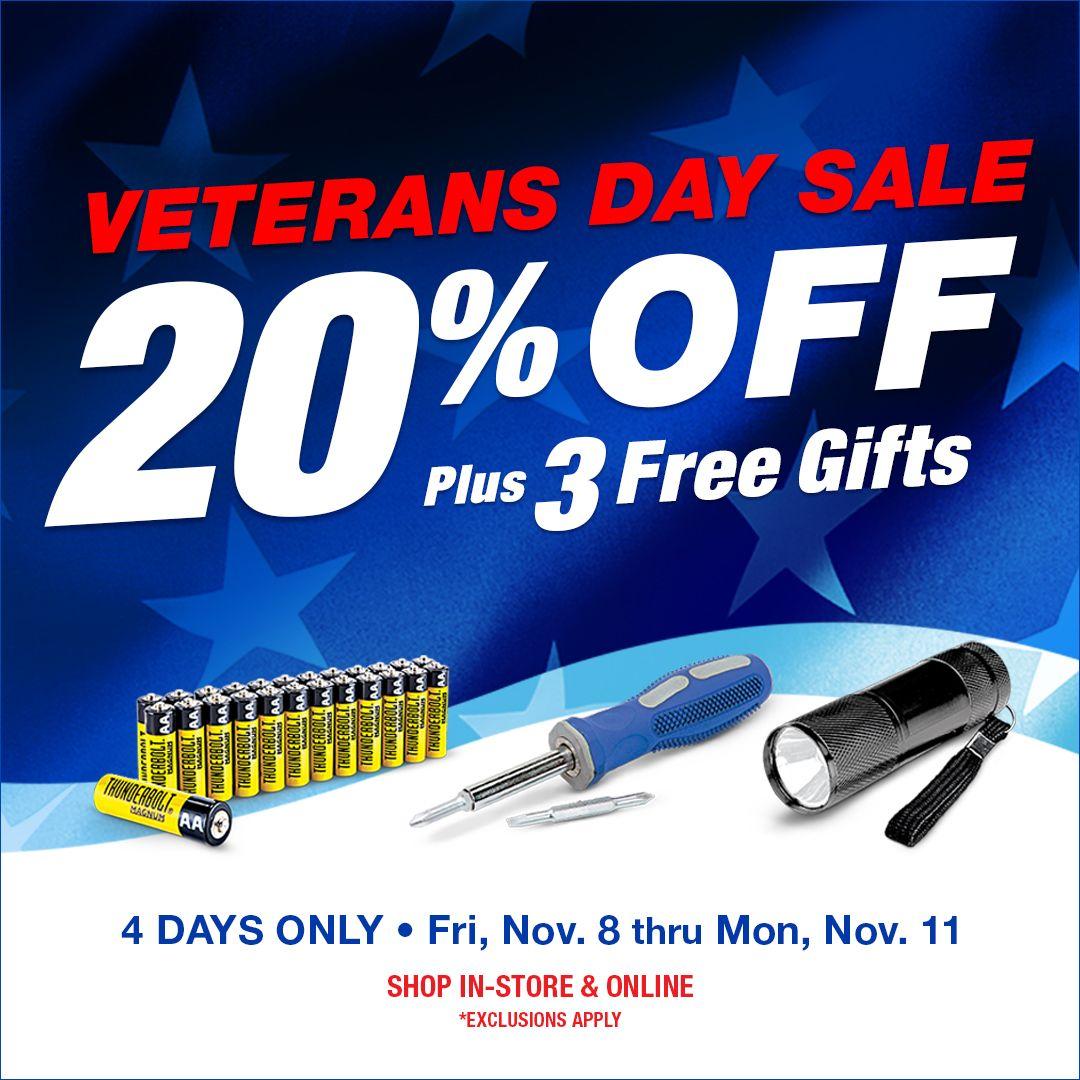 Veterans Day 4 Day Sale Harbor Freight Tools Veteran Veterans Day