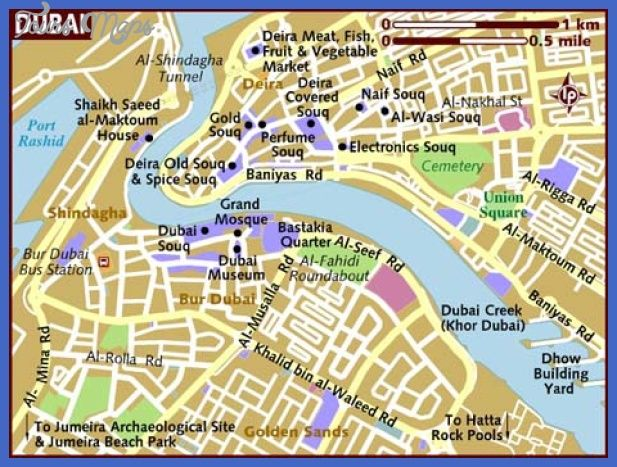cool dubai map tourist attractions