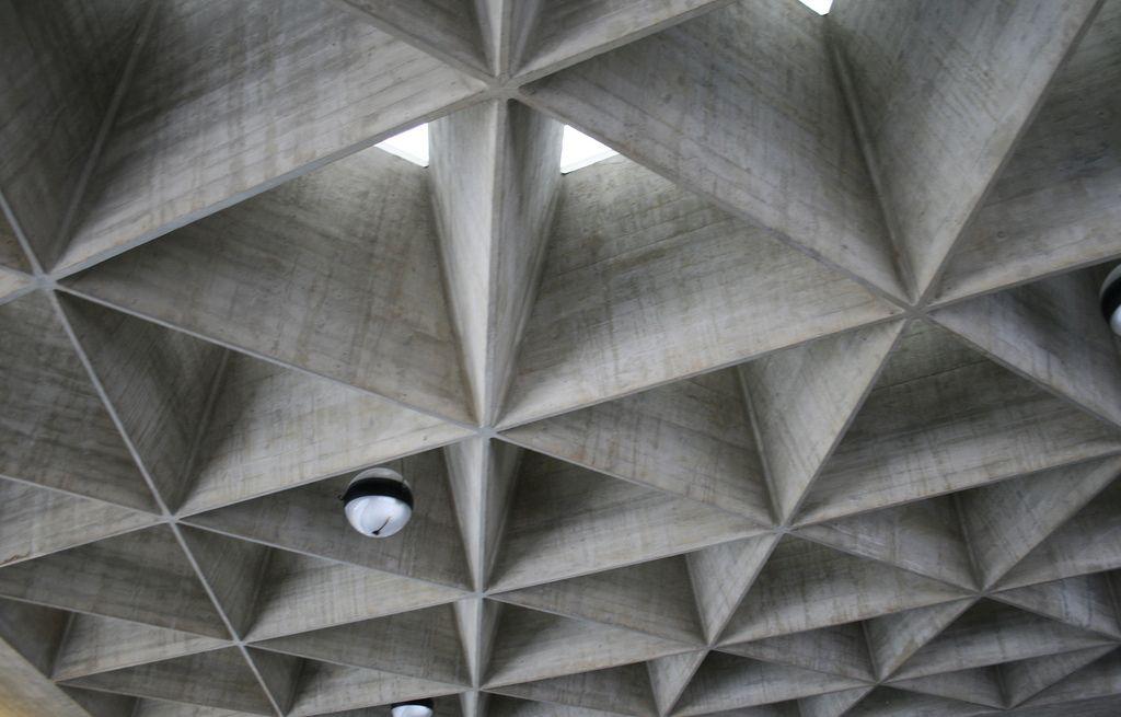 Cologne Airport Ceiling Roof Design Concrete Structure Concrete Houses