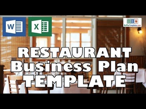 Restaurant Business Plan Template  Business Plan