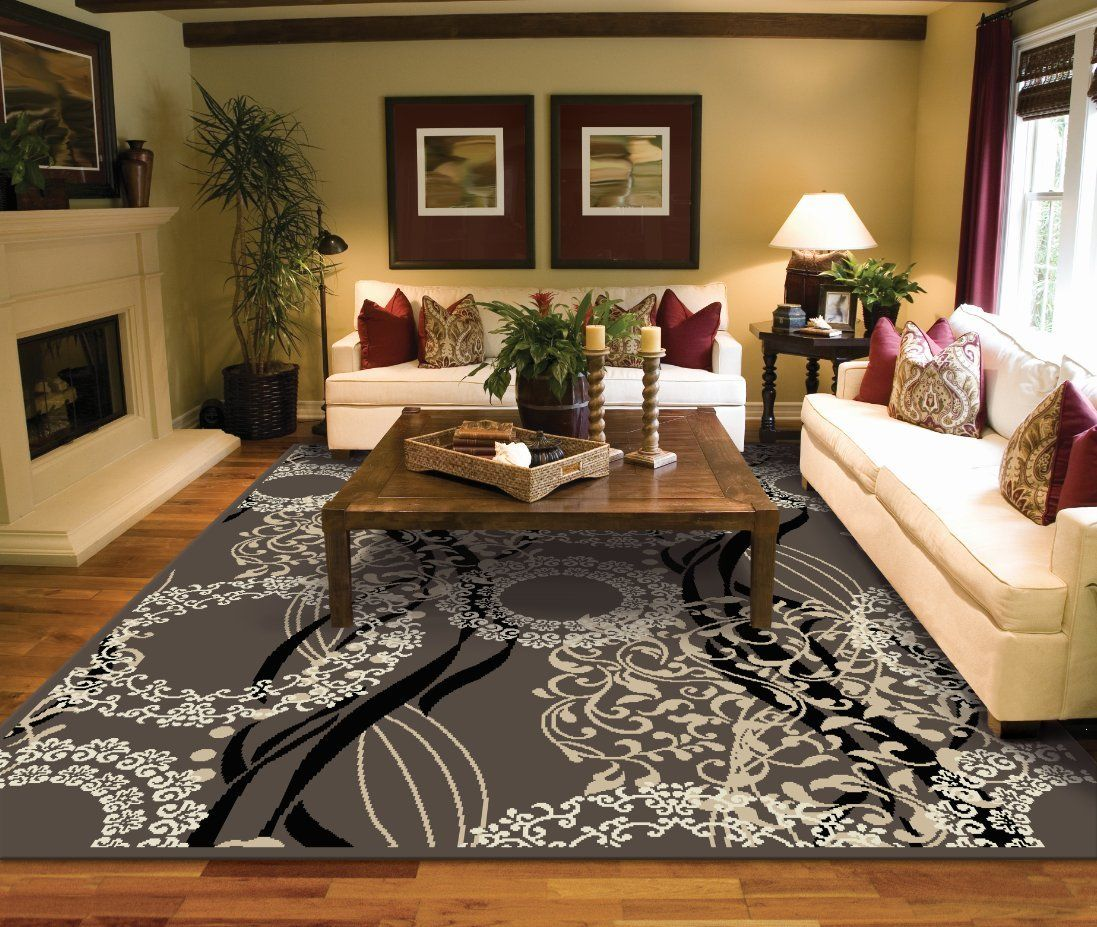Best Amazon Com Large Rugs For Living Room 8X10 Black 400 x 300