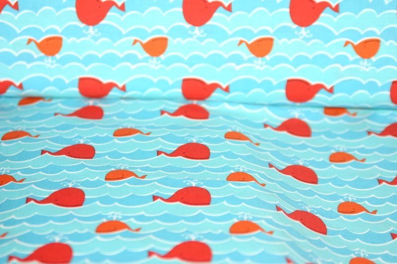 fabric whales