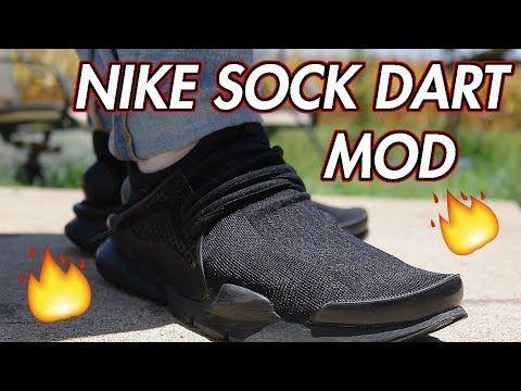 ddf316f9afe NIKE SOCK DART MOD  QUICK CUSTOM + ONFEET (EP.  7) - YouTube ...