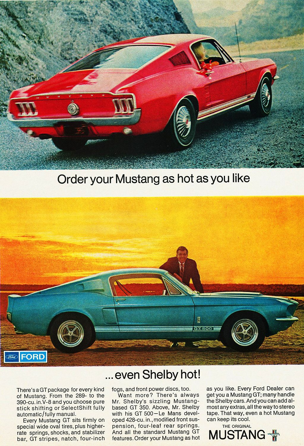 Ford-1967-Mustang-Shelby-GT500-ad.jpg (1024×1500) | Mustang classic ...
