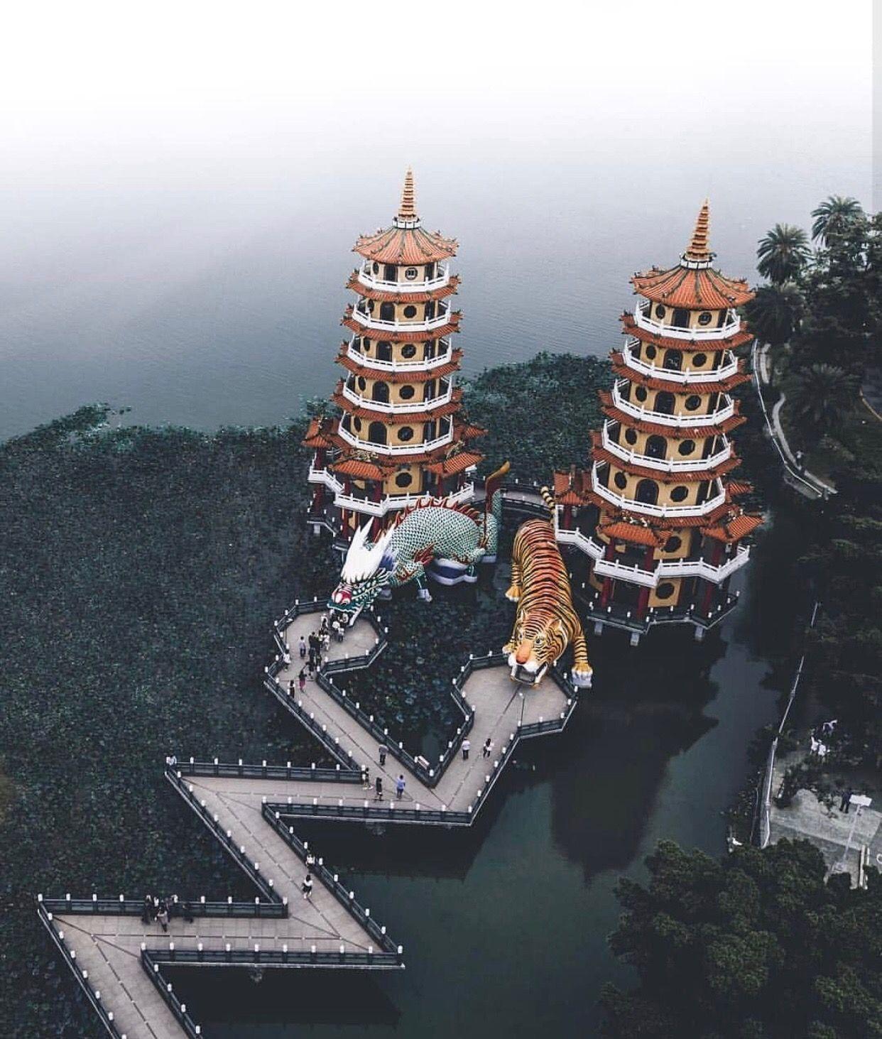 Kaohsiung taiwan vacation trips lotus pond travel