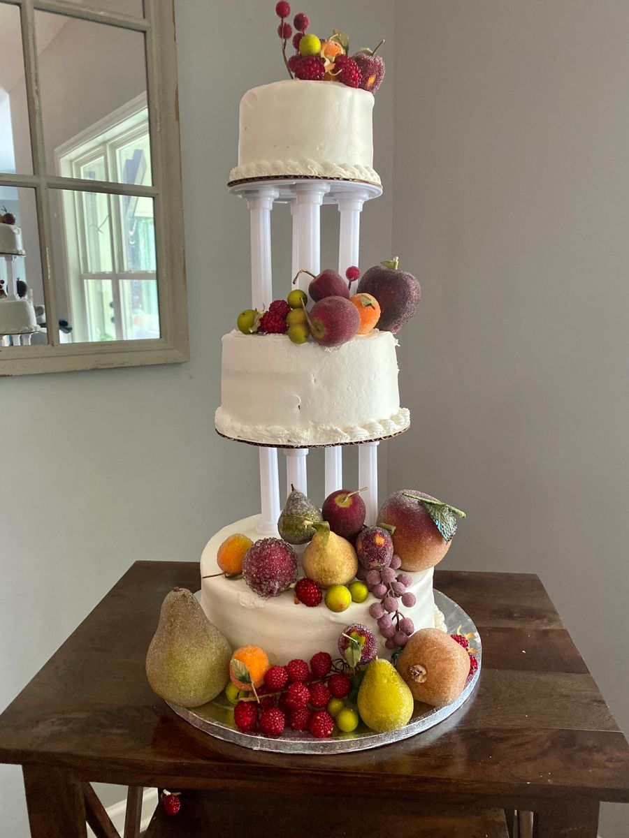 65 dollars to make this amazing 3 tier wedding cake for my