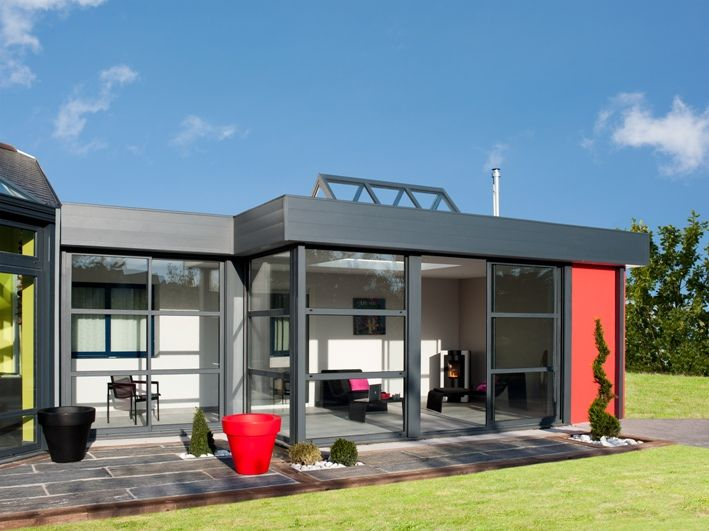 extension toit plat avec puit de lumi re v randaline. Black Bedroom Furniture Sets. Home Design Ideas