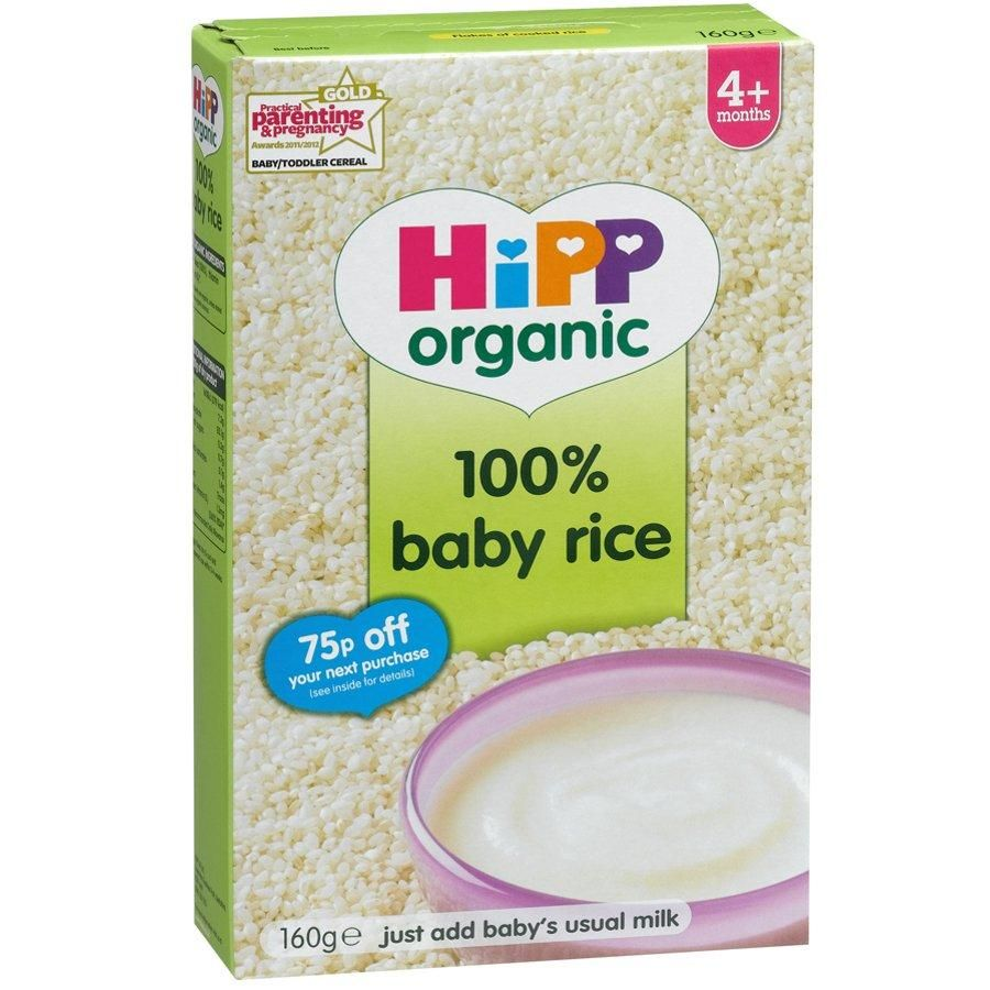 Hipp Baby Rice 4 Dried 1 X 160g Baby Cereal