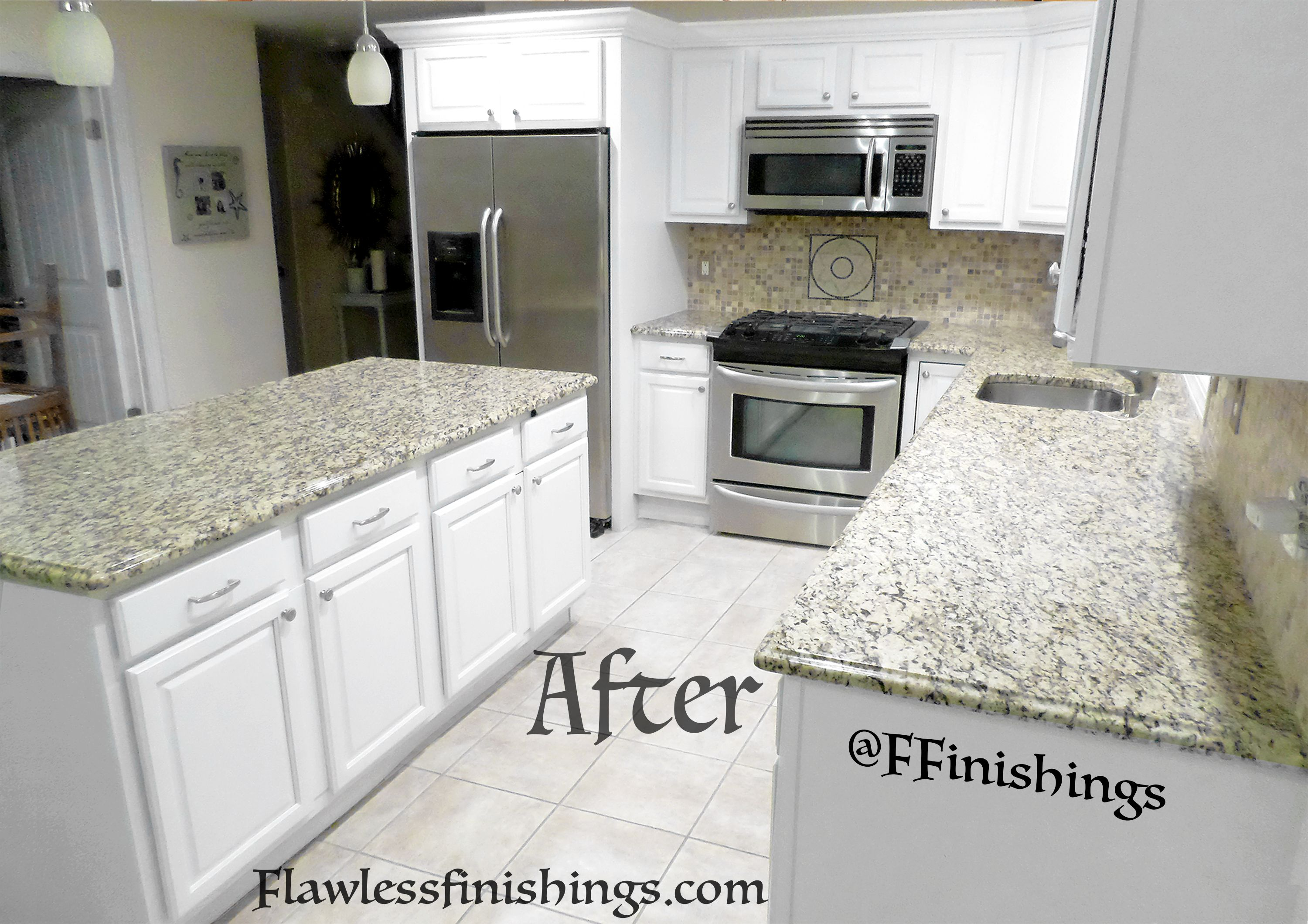 Kitchen Cabinet Refinishing Color ~ Soft Whiteflawless Delectable Kitchen Cabinet Refinishing Design Ideas