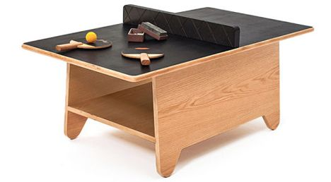 Ping Pong Coffee Table Combines Fun, Function + Storage   How Cool Is This
