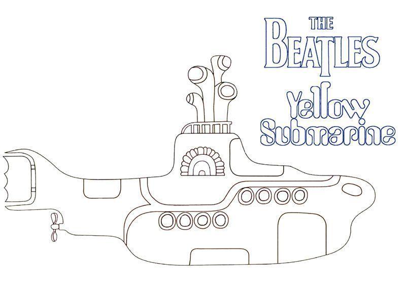 yellow submarine coloring page - heinz edelmann je passerai samedi ou dimanche