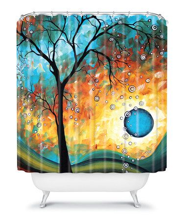 Another Great Find On Zulily Aqua Burn Shower Curtain