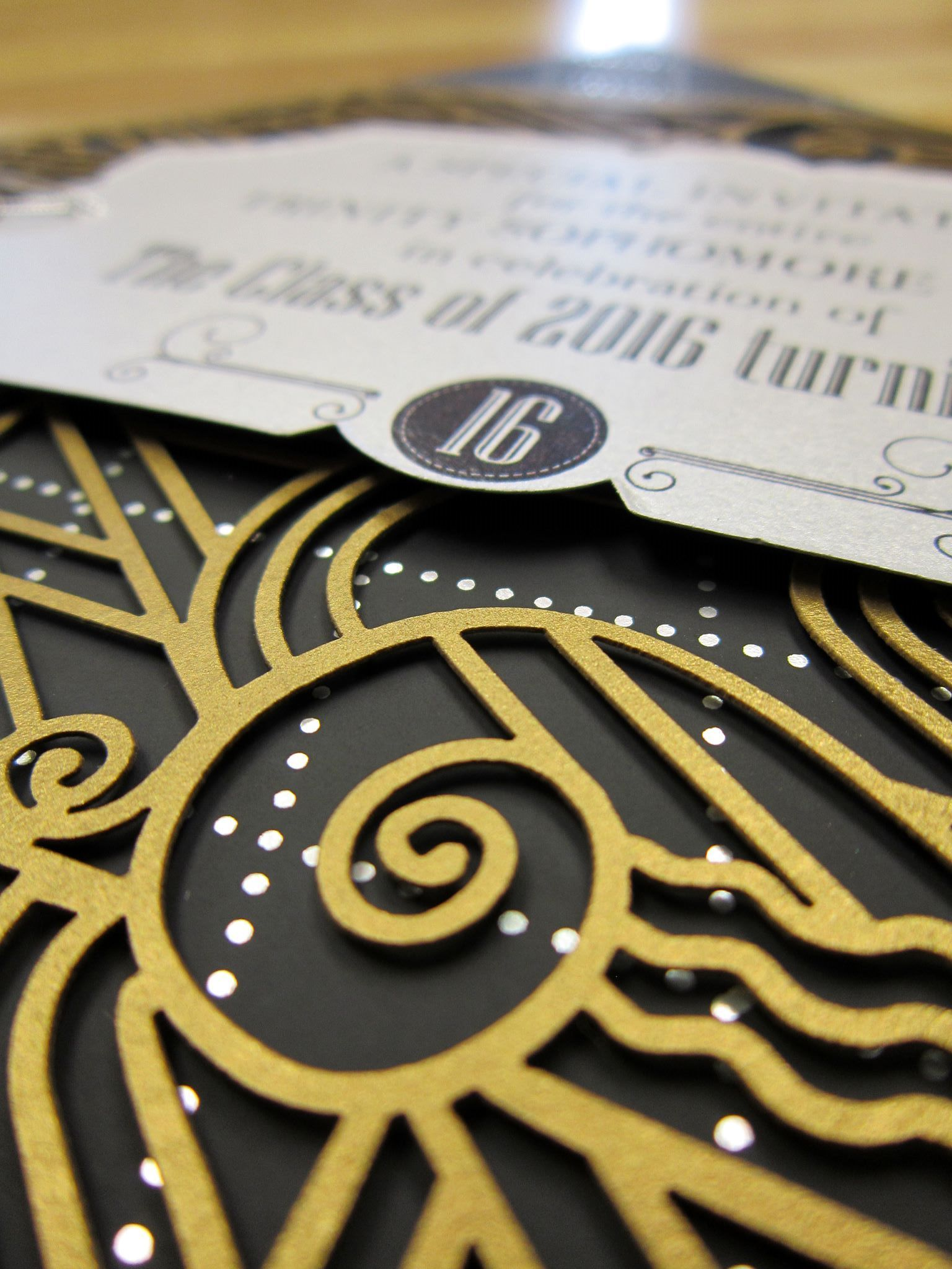 Stunning Great Gatsby inspired invite from Persnickety Invitation Studios  Pin from DreamWeddingsPA.com