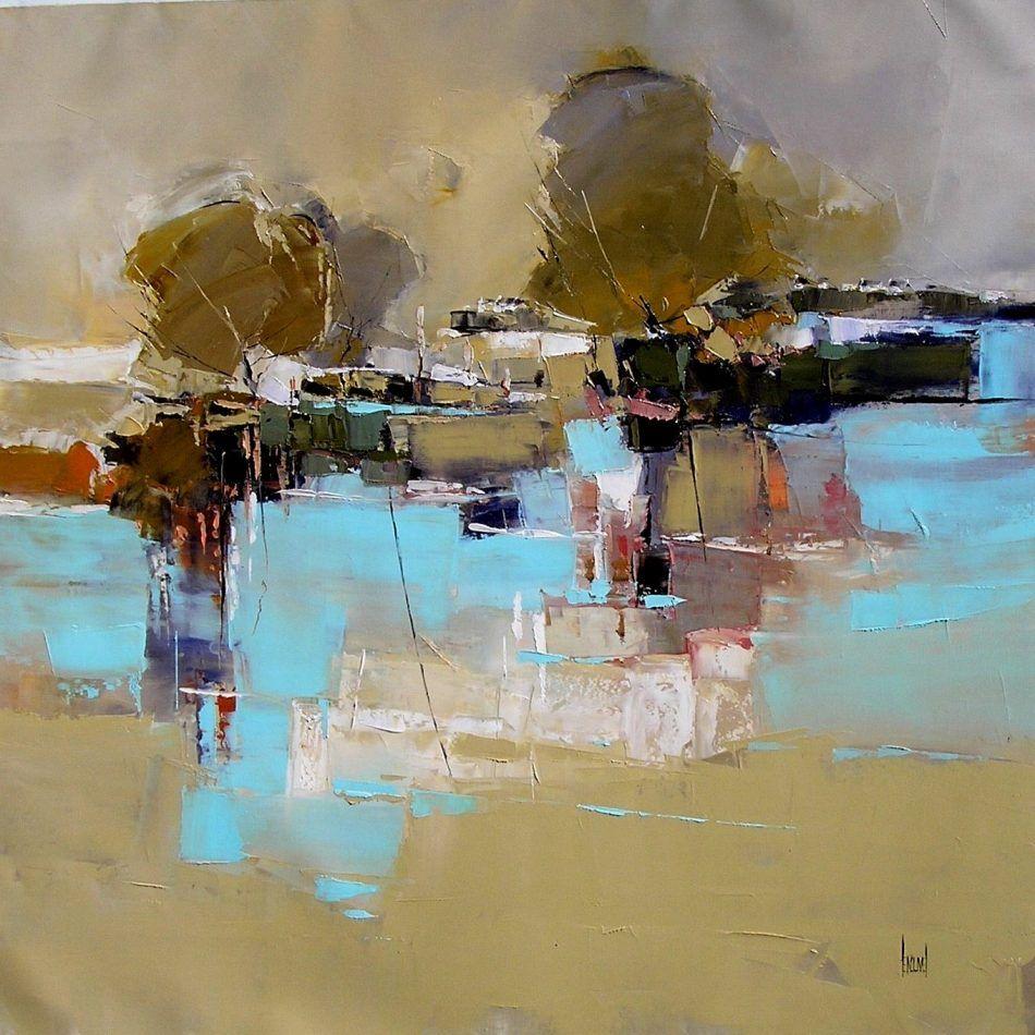 Herve Lenouvel Peinture Abstraite De Paysage
