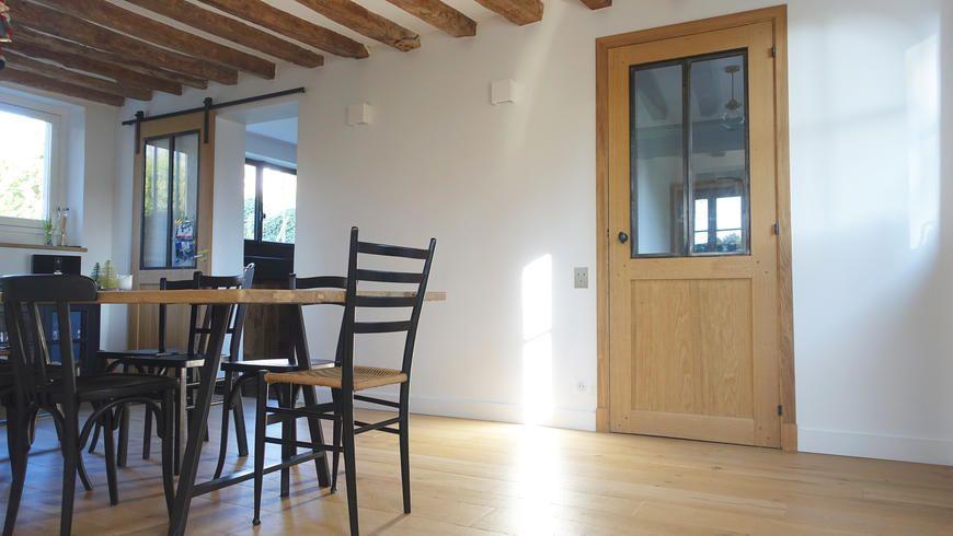 Ton sur ton la parqueterie nouvelle table bois brut - Table cuisine bois brut ...