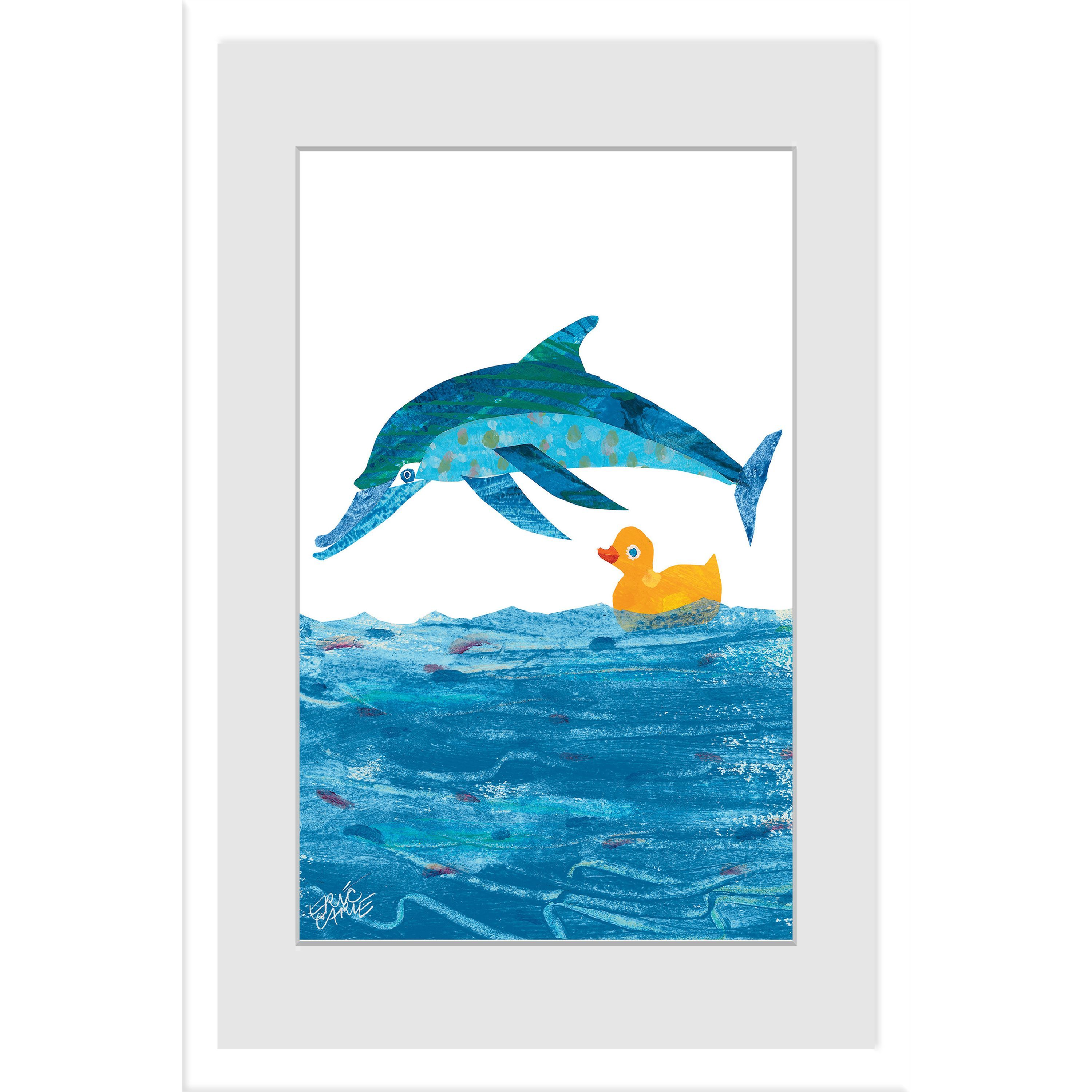 Marmont hill little rubber duck and dolphin by eric carle liartist eric carlelilititle 10 little rubber ducks character art dolphinliliproduct type canvas artli fandeluxe Image collections