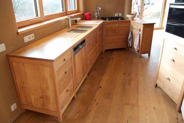 meuble de cuisine en bois brut Cuisine Pinterest