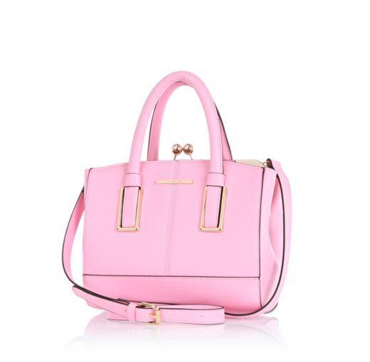 I m shopping Light pink mini structured tote bag in the River Island iPhone  app. 7ec3f8b6b6ca8
