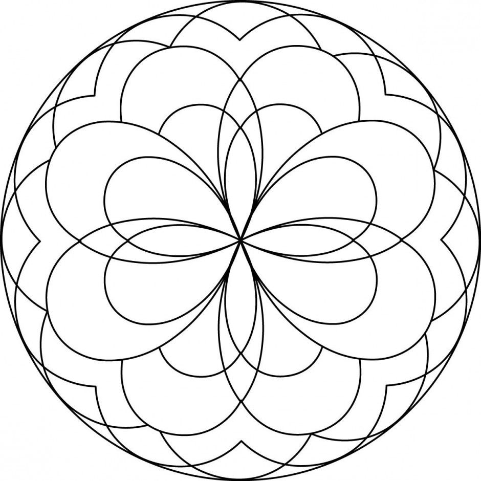 Easy mandala coloring pages - Coloring Pages & Pictures ...