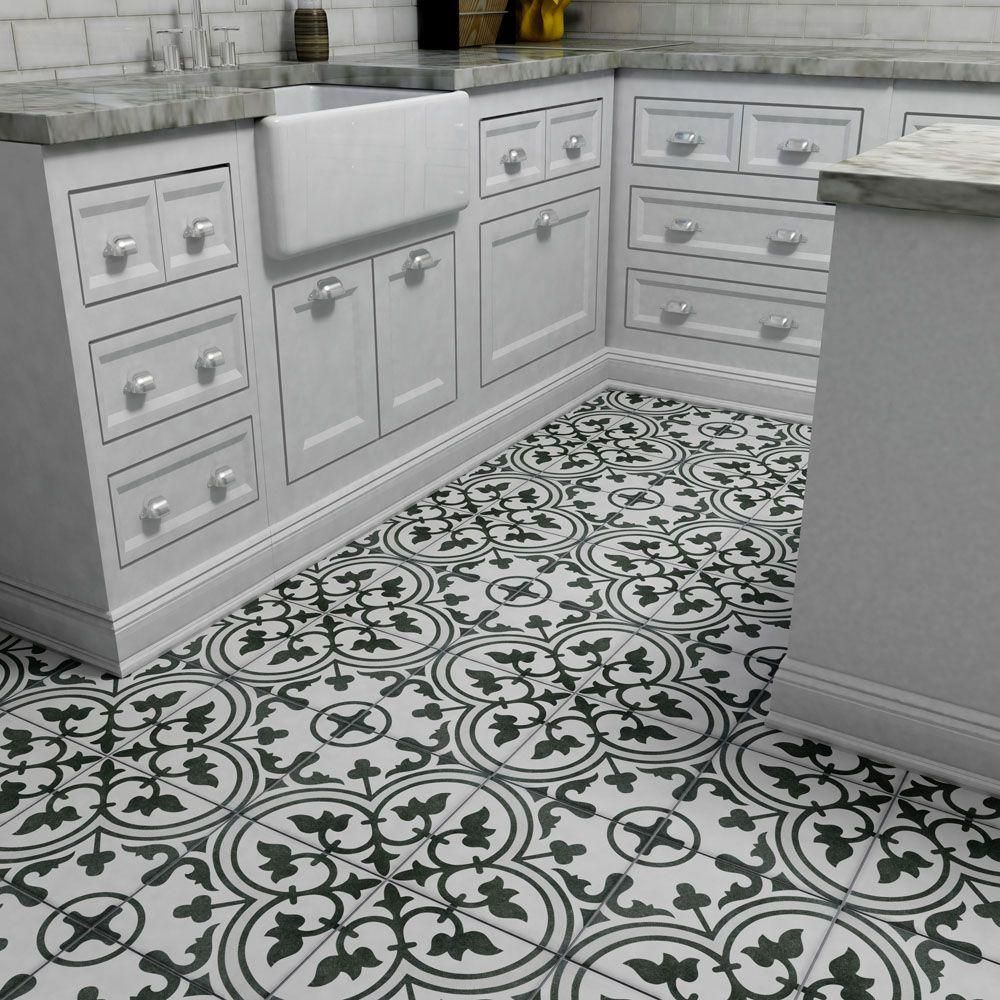 Merola Tile Arte Grey 9 1 2 In X Porcelain Floor And Wall 10 76 Sq Ft Case Fcd10arg The Home Depot