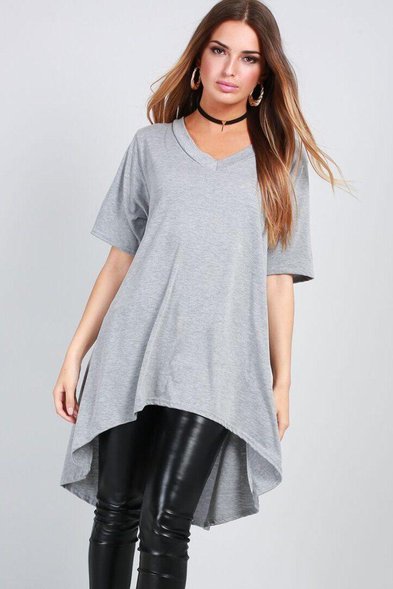 dfbb7c0960 Dipped Hem Oversized T-shirt Dress £14.00 Featuring a dip hem