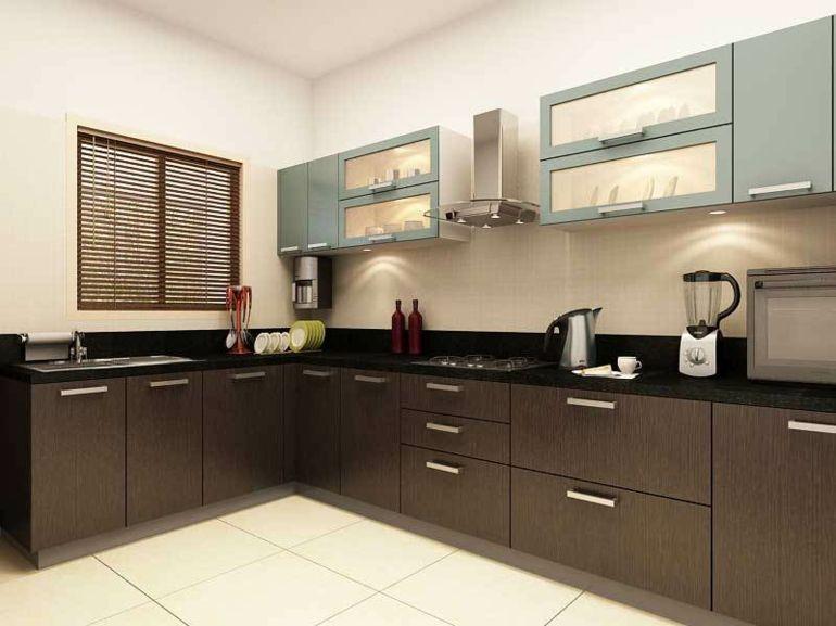 Cocinas peque as en forma de l cincuenta dise os for Muebles de cocina pequena