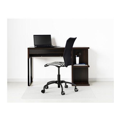 Micke scrivania con contenitore marrone nero ikea - Ikea ufficio informazioni ...