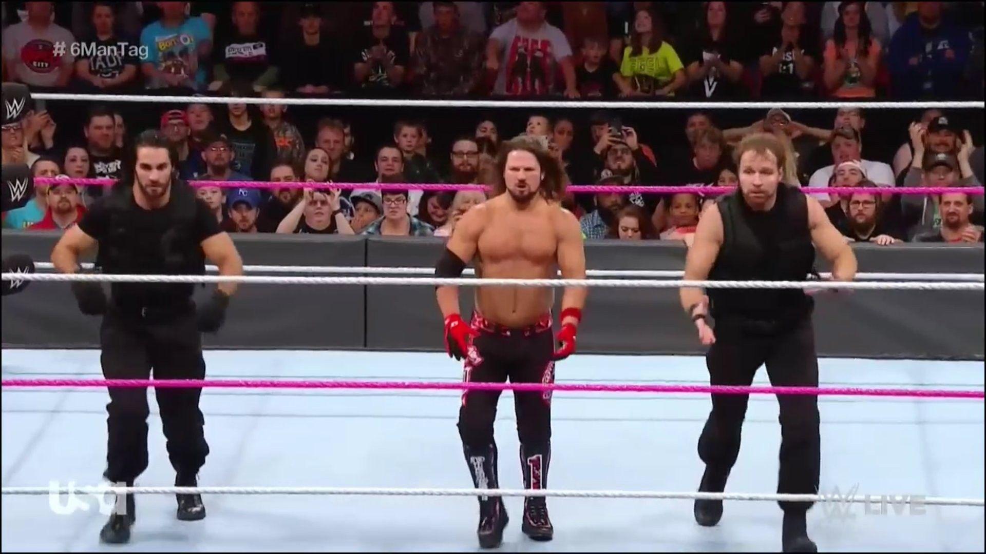 Dean Ambrose, Seth Rollins, AJ Style