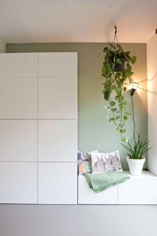 Nieuwbouwwoning Interieurinspiratie Witte Kast Met Zitje