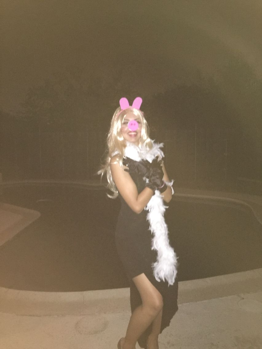 wig party city boa party city dress hot miami style gloves spirit halloween store ears and nose home made with card stock and foam paper