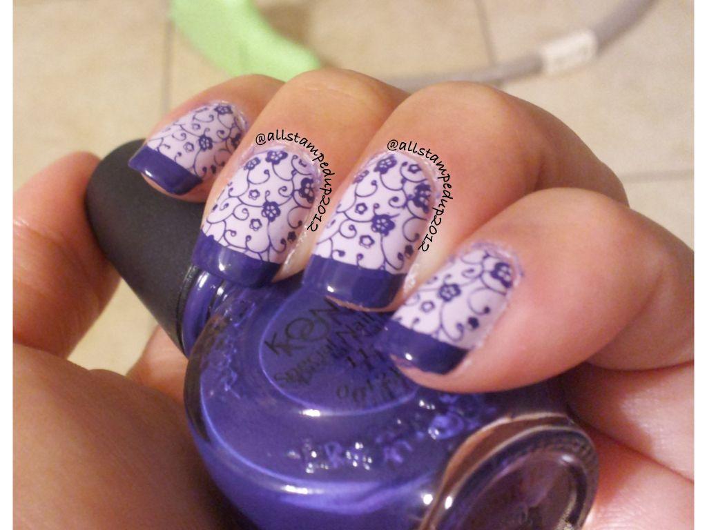 Konad Nail Art- image plate m73 & special polish royal purple Follow ...