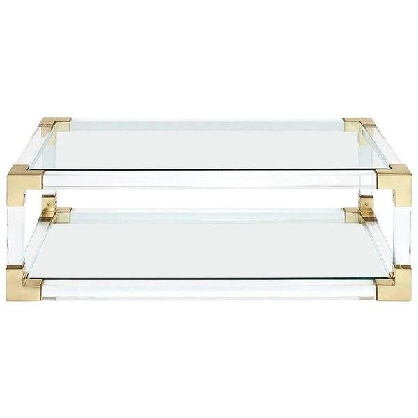 Highlight Coffee Table With Acrylic Glass And Gold Finish 3 333