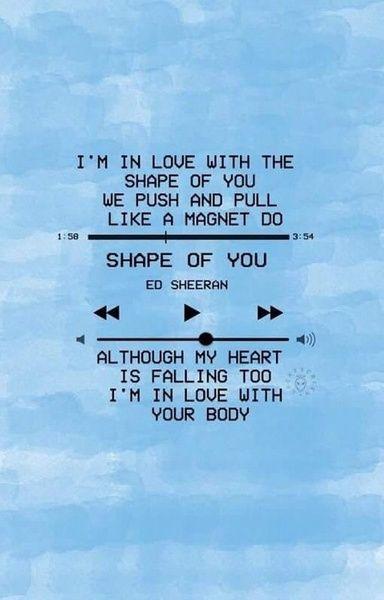 Resultado de imagen para ed sheeran shape of you tumblr