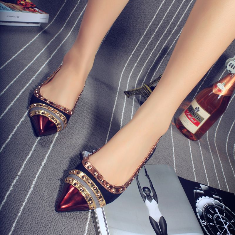 Aliexpress.com   Buy Rivets Decoration Brand Shoes Flats Women Spring  Autumn Fashion Womens Flats Boat Shoes Sexy Ladies Plus Size 11 Free  Shipping from ... 79cc5cc4c747