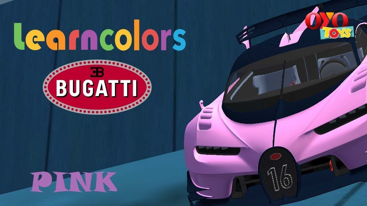 Learn Colors With Bugatti Jumps For Children To Learning Colors Cars For Learning Colors Play Doh Fun Kids Safe