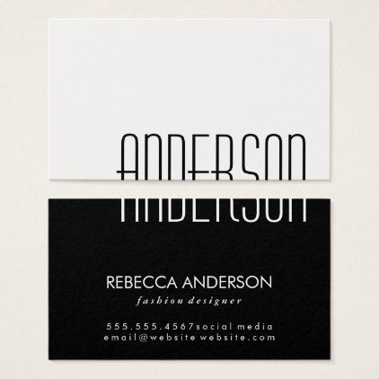 Large text black and white business card women woman style large text black and white business card women woman style stylish unique cool colourmoves