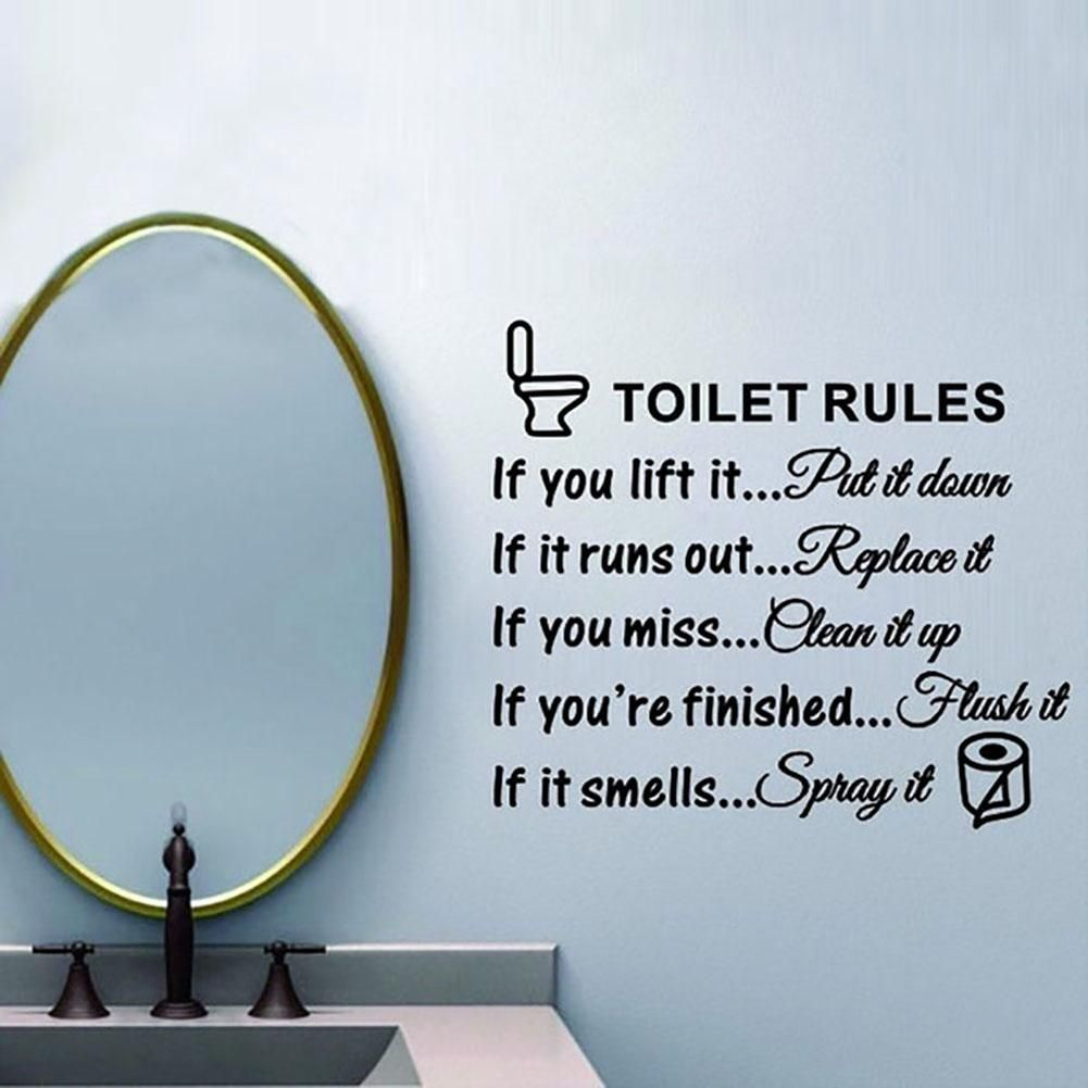 Photo of DIY Toilet Rules Quote Bathroom Removable Wall Sticker Art Decal Decoration – as the picture ax