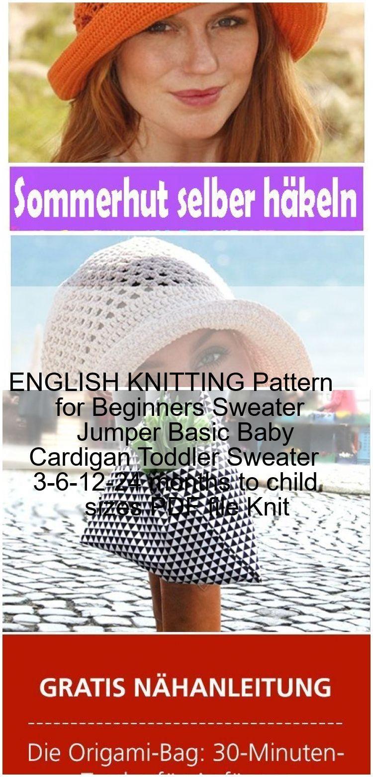 Photo of ENGLISCH Strickmuster für Anfänger Pullover Jumper Basic Baby Cardigan Kleinkind Pullover 3-6…