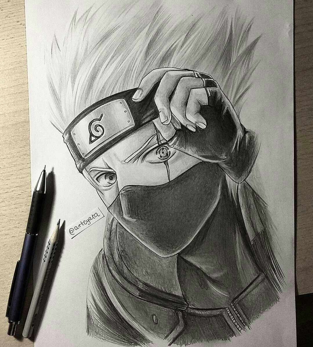 My Drawing Of Kakashi Hatake Anime Y Manga 스케치 만화 Y