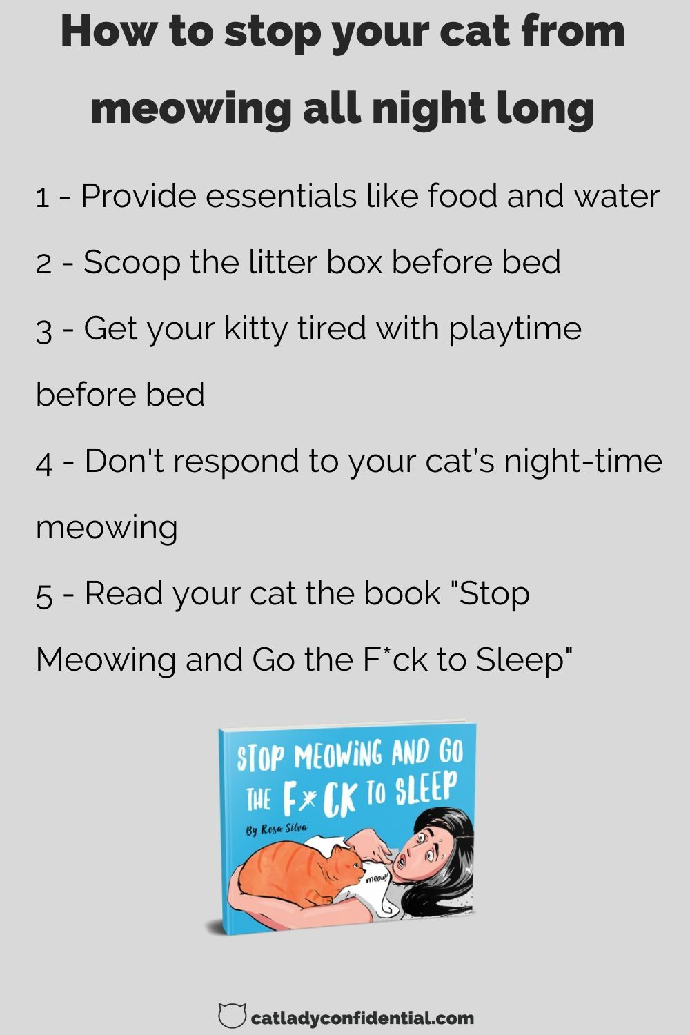 Stop Meowing And Go The F Ck To Sleep In 2020 Cat Parenting Cat Daddy Bedtime Book
